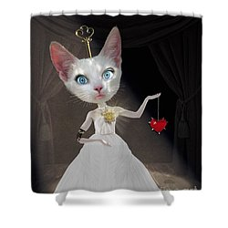 Miss Kitty Shower Curtain by Juli Scalzi
