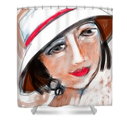 Miss Mary Shower Curtain by Elaine Lanoue