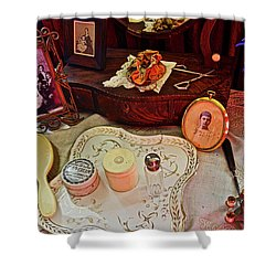 Miss Mary's Table. Shower Curtain