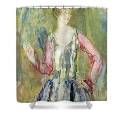 Miss Nancy Cunard Shower Curtain by Ambrose McEvoy