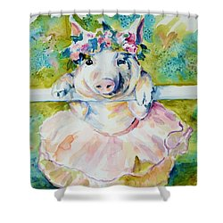 Miss Piggy At The Bar Shower Curtain