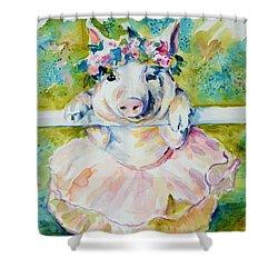 Miss Piggy At The Bar Shower Curtain by P Maure Bausch