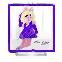 Miss Piggy Shower Curtain by Susan Garren