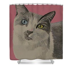 Miss Pretty Kittie Shower Curtain