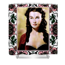 Miss Scarlet Shower Curtain by Wbk