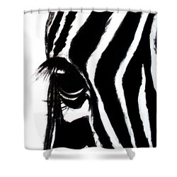 Miss Zebbie Shower Curtain