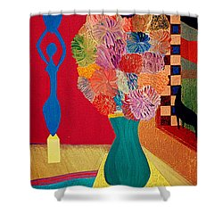 Shower Curtain featuring the painting Missing Henri by Bill OConnor