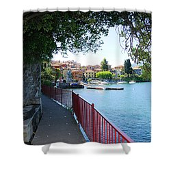 Shower Curtain featuring the photograph Missing Lake Como by Haleh Mahbod