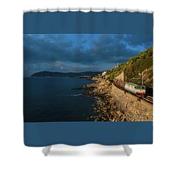 Missing Railway Shower Curtain by Andrea Sosio
