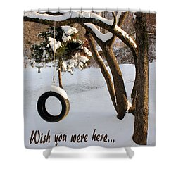Missing You Shower Curtain by Kristin Elmquist
