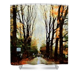 Missing You - Rainy Day Park Shower Curtain