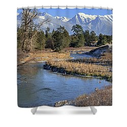 Mission Mountains Shower Curtain