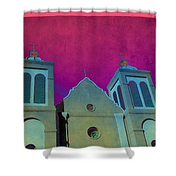 Mission New Mexico Var.2 Shower Curtain by Susanne Van Hulst