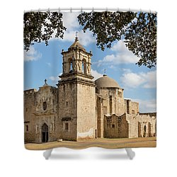 Shower Curtain featuring the photograph Mission San Jose by Mary Jo Allen