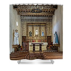 Shower Curtain featuring the photograph Mission San Juan Capistrano Sanctuary - San Antonio by Stephen Stookey