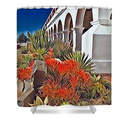 Mission San Luis Rey Garden Shower Curtain
