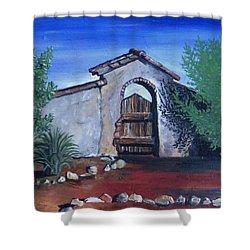 Rustic Charm Shower Curtain by Mary Ellen Frazee