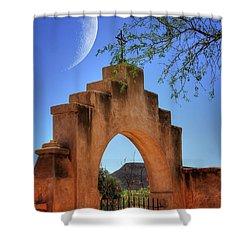 Mission San Xavier Del Bac Shower Curtain by Lois Bryan