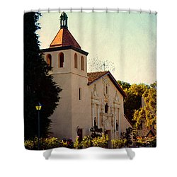 Shower Curtain featuring the photograph Mission Santa Clara - California by Glenn McCarthy Art and Photography