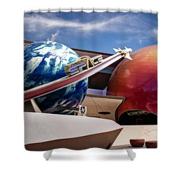 Shower Curtain featuring the photograph Mission Space by Eduard Moldoveanu