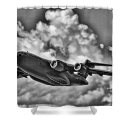 Mission-strategic Airlift Shower Curtain