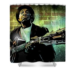 Mississippi John Hurt Shower Curtain by Paul Sachtleben