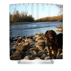 Shower Curtain featuring the photograph Mississippi River Good Morning by Kent Lorentzen