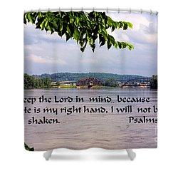 Mississippi River Olams 16v8 Shower Curtain