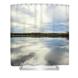 Mississippi River Panorama Shower Curtain by Joni Eskridge