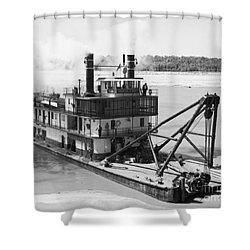 Mississippi River Snag Boat Shower Curtain by Granger