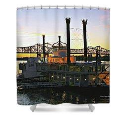 Mississippi Riverboat Sunset Shower Curtain