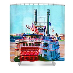 Mississippi Steamboat Shower Curtain