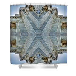 Shower Curtain featuring the photograph Missouri Capitol - Abstract by Nikolyn McDonald