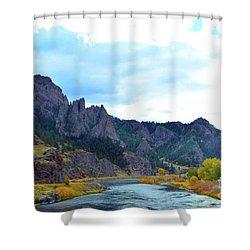 Missouri River Colors Shower Curtain