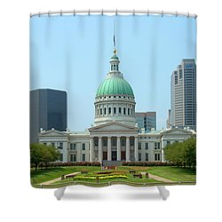 Shower Curtain featuring the photograph Missouri State Capitol Building by Mike McGlothlen