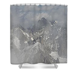 Mist At Aiguille Du Midi Shower Curtain