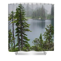 Shower Curtain featuring the photograph Mist At Snow Lake by Charles Robinson