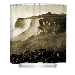 Shower Curtain featuring the photograph Mist In Lesotho by Susie Rieple