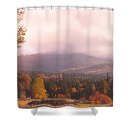 Mist On The Mountains Shower Curtain