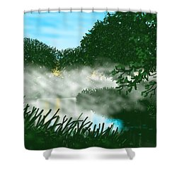 Mist On The River Ouse Shower Curtain