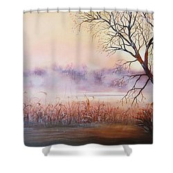 Mist On The River Shower Curtain by Vesna Martinjak