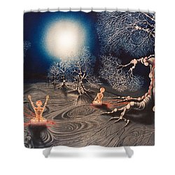 Mistery Of Cosmic Obsession Shower Curtain