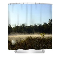 Mists On The Welland Shower Curtain