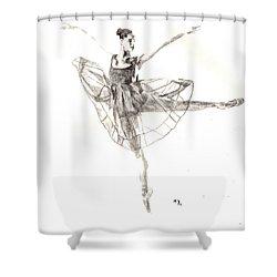 Misty Ballerina Dancer IIi Shower Curtain