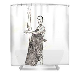 Misty Ballerina Dancer  Shower Curtain