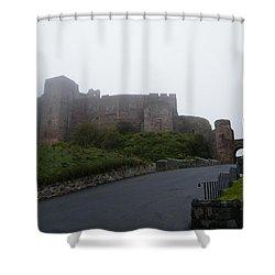 Misty Bamburgh Castle Shower Curtain