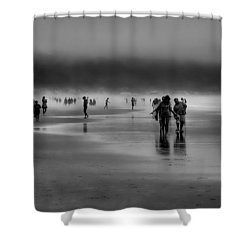 Misty Beach Shower Curtain by David Patterson