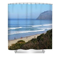 Misty Beach Morning Shower Curtain