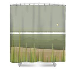 Misty Beach Shower Curtain