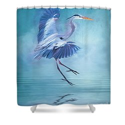 Misty Blue Shower Curtain